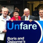 Val Shawcross campaigning for lower fares with Ken Livingstone during last year's election. Photo: MayorWatch