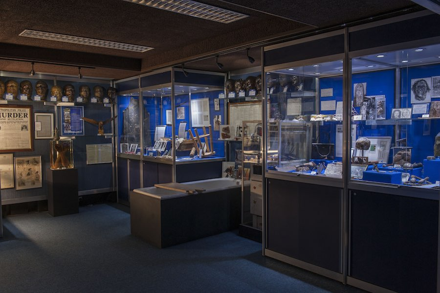 Inside the Metropolitan Police's hidden Crime Museum at New Scotland Yard, 2015 © Museum of London