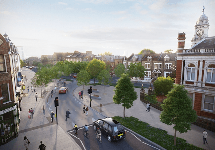An artist's impression of East Hill in Wandsworth. Image: TfL
