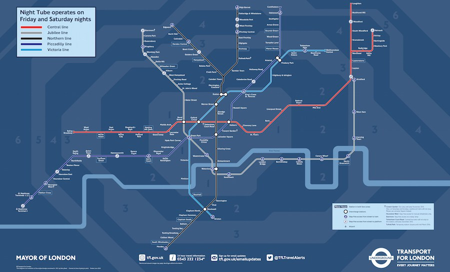 All-night Tube service to start this August
