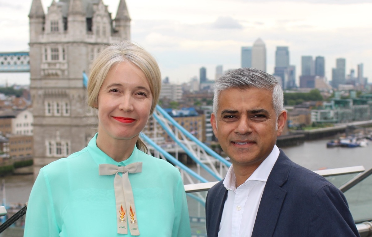 Justine Simons with Mayor Sadiq Khan. Image: Greater London Authority.