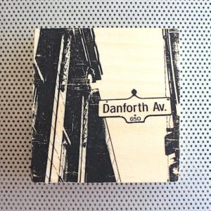 The Danny Danforth Avenue street sign in Toronto Canada