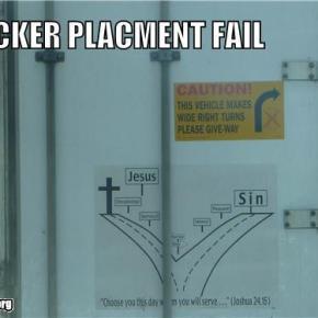 Sticker Placement Fail