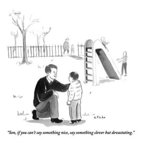 From The New Yorker: The Playground Imitates Life…