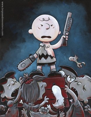 charlie brown meet evil dead