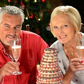 Programme Name: The Great British Bake Off Christmas Masterclass - TX: 16/12/2014 - Episode: n/a (No. n/a) - Picture Shows: (L-R) at Rockley Manor  Paul Hollywood, Mary Berry - (C) Love Productions - Photographer: Andy Devonshire