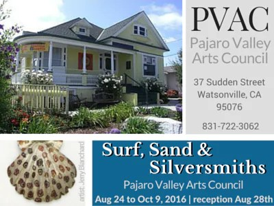 UPCOMING EXHIBIT: Surf, Sand & Silversmiths at PVAC – Aug-Oct 2016
