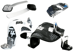 MBS Mountainboard bindings and heelstraps