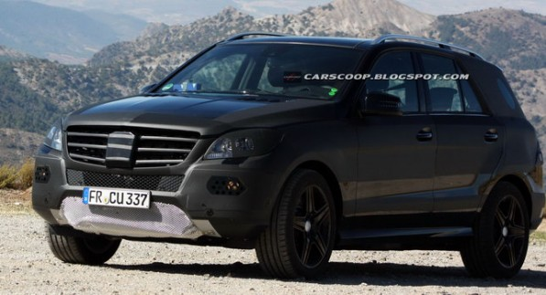 2012 Mercedes ML63 AMG 01 597x323 Spy Photo: 2012 Mercedes Benz ML63, Without the Heavy Camouflage