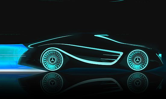 mercedes blackbird Blackbird Design Study Borrows From SR 71 But Evokes Tron