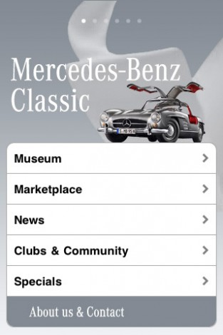 mzl.ryueajyb.320x480 75 313x470 Mercedes Benz Classic Cars app now available