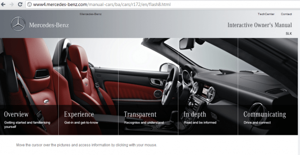 slk onlinemanual 597x309 Sneak a Peek Inside the SLK Owners Manual