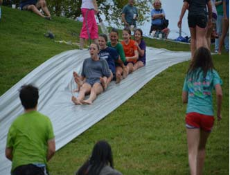 youth slipping and sliding fun 2015