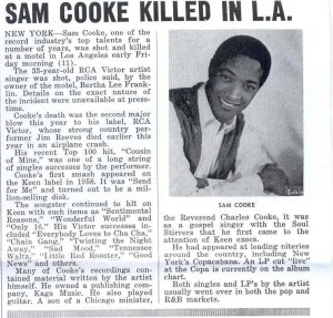 Sam cooke eulogized funeral held in chicago january 2 1965