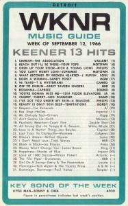 WKNR-AM radio survey, September, 1966
