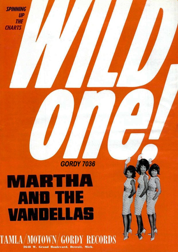 "A MOTOWN RECORDS AD BILLBOARD PAGE RIP: ""Wild One,"" Martha Reeves & The Vandellas December 19, 1964"