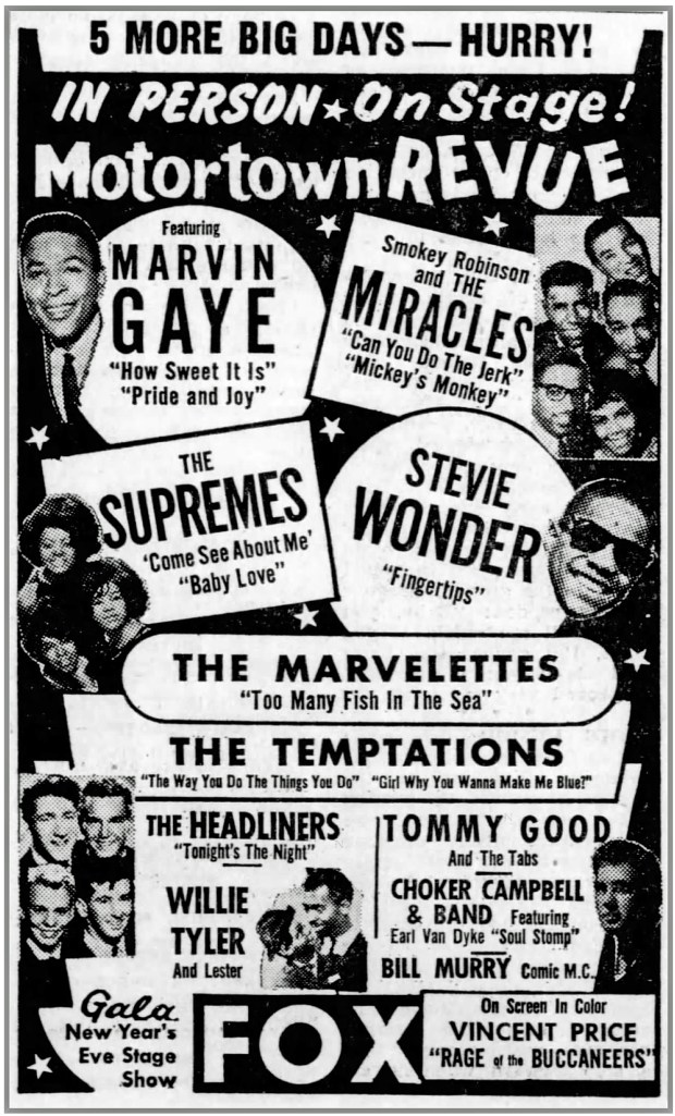 FROM THE PAGES OF THE DETROIT FREE PRESS: 'Motor Town Revue' December 27, 1964