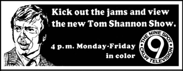 Tom Shannon Show on CKLW TV-9; TV Guide ad March-22-28-1969
