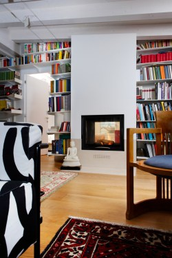 Small Of Two Sided Fireplace