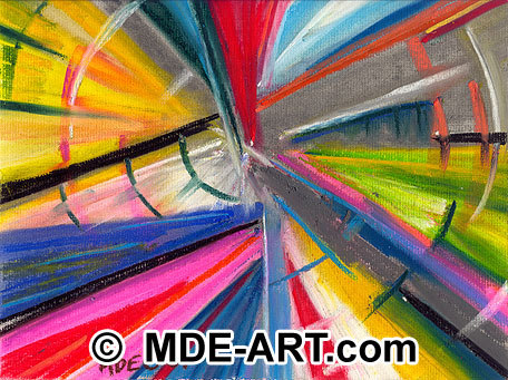 Pastel Abstract Art Drawing