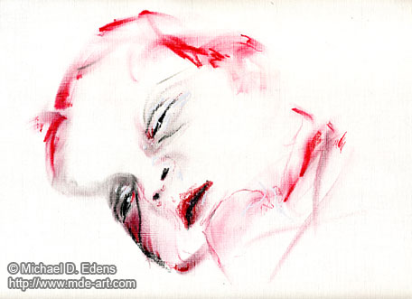 Exhuastion - Drawing of a Newborn Baby in a Hospital
