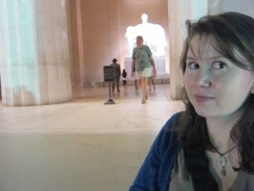 Megan at the Lincoln Memorial