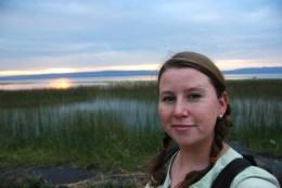 Megan at Lake Awasa