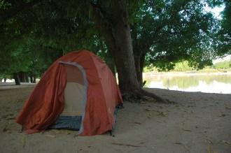 Last night in a tent