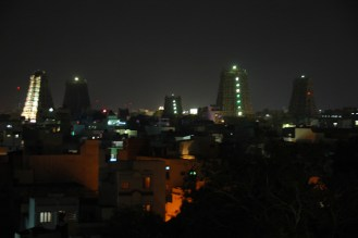 View of Madurai from my hotel room