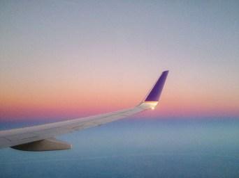 Early flight to Houston