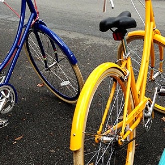 Colorful Public Bikes