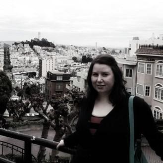 Megan on Lombard Street