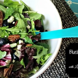 21 Day Fix Blueberry Feta Salad with Lemon Vinaigrette