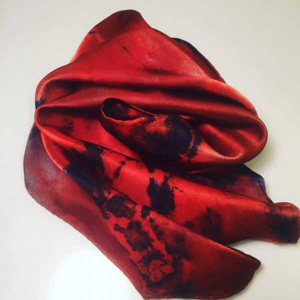 Hand Dyed Silk Scarves
