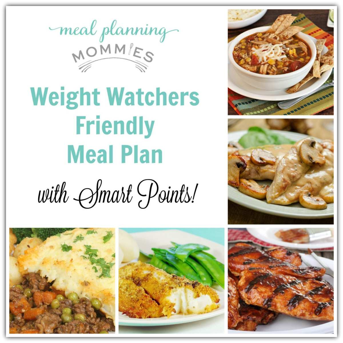 Weight Watcher Friendly Meal Plan with Smart Points #2