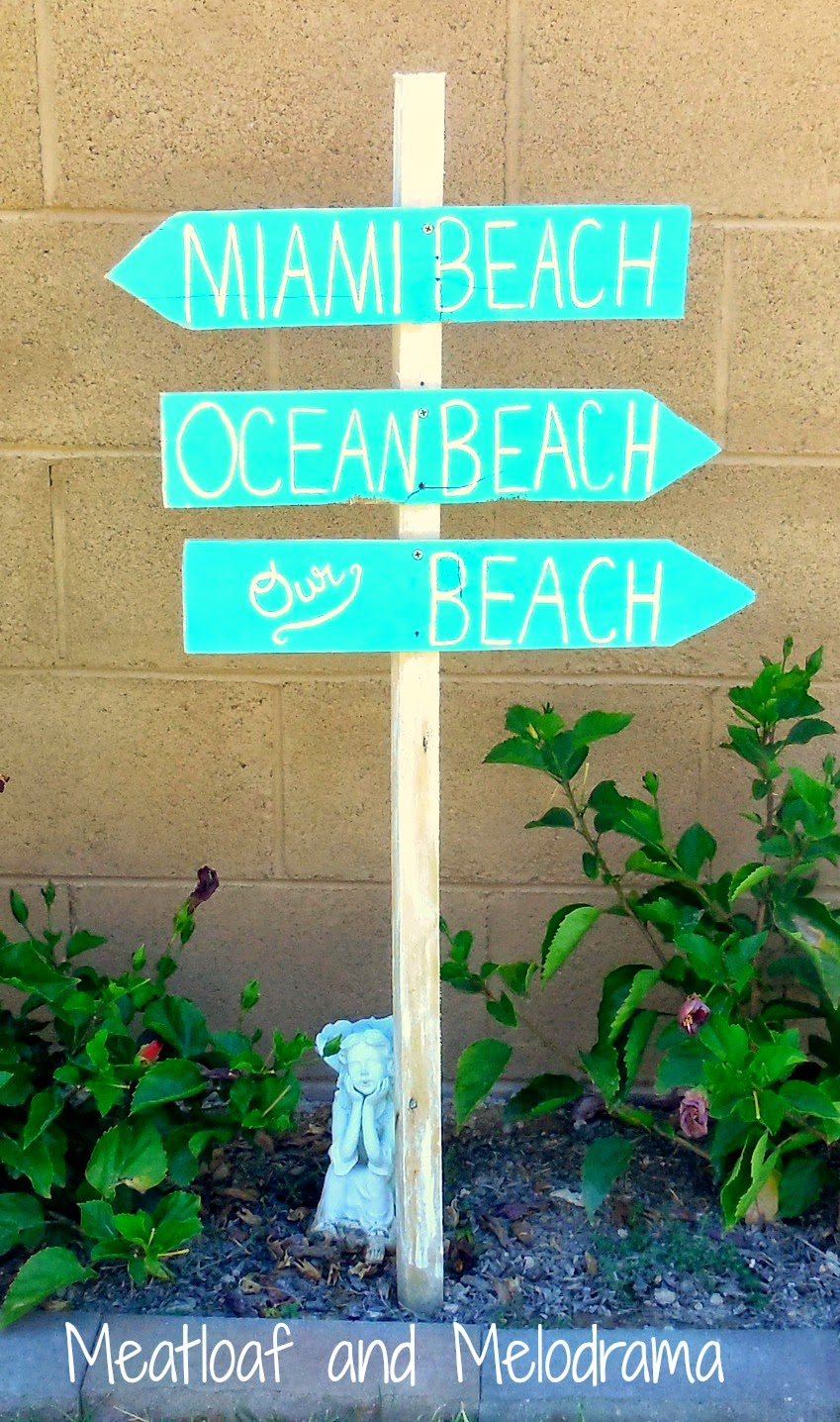 Fancy Diy Miami Ocean Beach Our Beach Wooden Signs Diy Beach Signs Meatloaf Melodrama Beach Decor Ideas Diy Beach Me Party Decorations Diy home decor Beach Decorations Diy