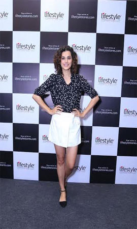 Actress Taapsee Pannu launches Lifestyle latest store at ...