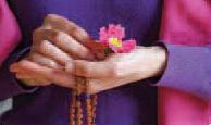 mala in hands