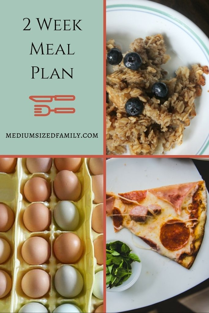 2 Week Meal Plan for Late January. Delicious comfort foods that are budget savers.