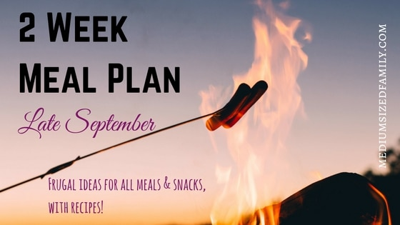 2 Week Meal Plan Late September