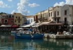 The Old Harbour in Rethymnon Crete