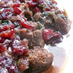 The Betty Crocker Project : Vegan Venison (Gardein) with Cranberry & Red Wine Sauce