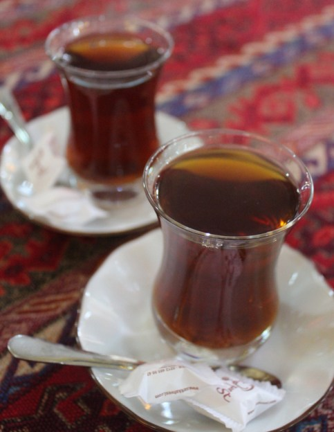 Tea for two in Istanbul, Turkey