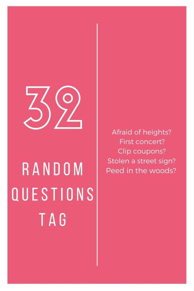 32 Random Questions Tag