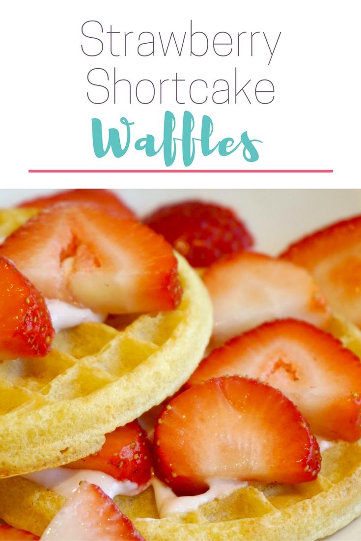 Strawberry Shortcake Waffles for Back to School