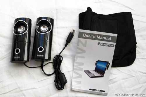 MEGATech Reviews   Zalman ZM NSP100 Clip On Notebook Speakers   zalmanclipspeakers 2 500x332