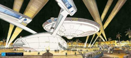 Las Vegas Almost Got Life Sized Starship Enterprise    star trek uss enterprise concept 500x222