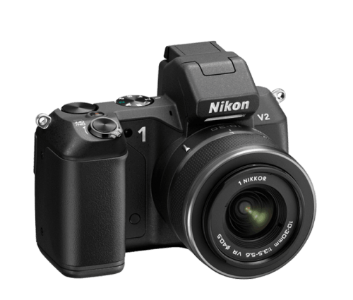 Updated Nikon 1 V2 Interchangeable Lens Camera Gets 14 Megapixels   27602 Nikon 1 V2 right 500x425
