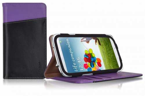 LUXA2 Releasing Line of Galaxy S4 Accessories   LUXA2 Chief Samsung S4 Leather Stand Case 500x332