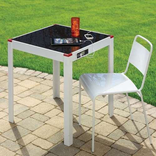 Dont Let Dead Devices Ruin Your Garden Party   Solar Charging Patio Table 500x500